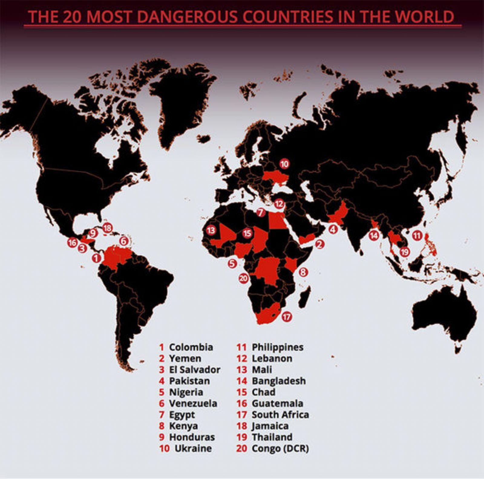 3 دول عربية في قائمة أخطر 20 بلداً في العالم - راديو بانوراما